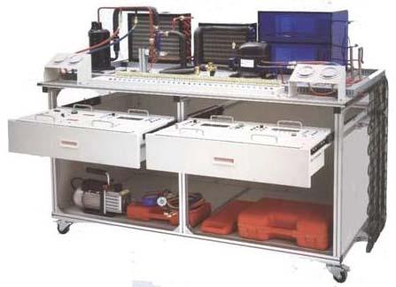 yyzl-211 现代制冷与空调系统技能实训装置(制冷制热实训考核鉴定设备