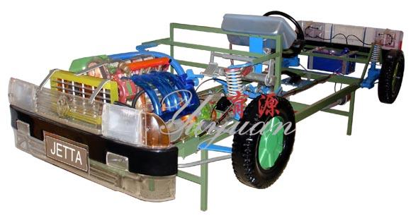 捷达轿车透明整车模型,以透明直观形象的特点,展示了汽车结构